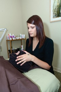 Hot towel wraps and steam help to remove products and open the pores.