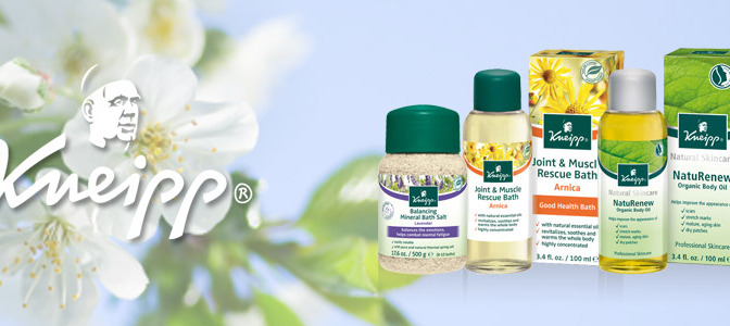 New Product Line: Kneipp Hydrotherapy and Aromatherapy products