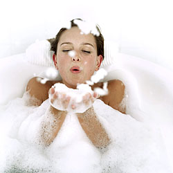 A soak in a warm tub to keep muscles warm and loose is perfect to extend the benefits of your massage.