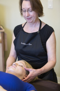 Teresa Sage demonstrates Craniosacral Massage techniques