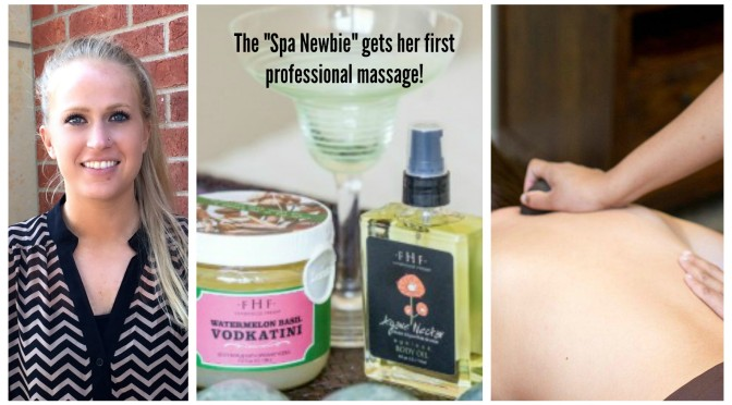 "The ""Spa Newbie"" gets her first professional massage!"