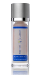 Serums or gels, like the Rhonda Allison Blushed Wine Gel are great light moisturizers to hydrate oily skin.