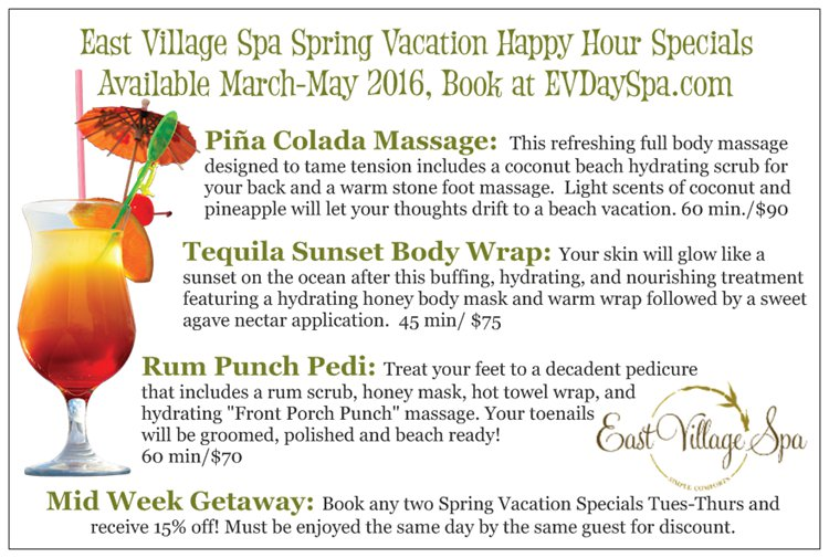 East Village Spa Spring Specials