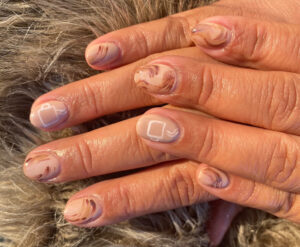 Hot chocolate manicure by Cyerra Kemp at East Village Spa